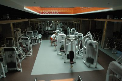 weightroom in McComas Hall
