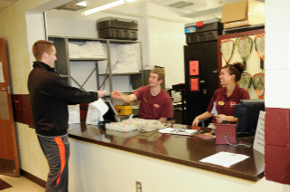 Patrons simply have to present their Hokie Passport at the equipment desk to check in to the facility.