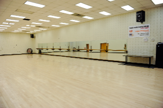 The dance studio is the home to many group exercise and dance classes.