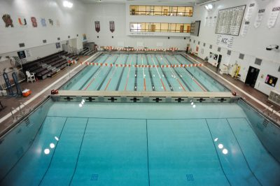 War Memorial pool including swim lanes and diving well